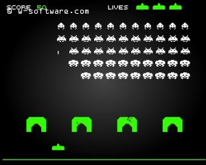 Detail hry Flash Space Invaders